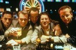 A shot of most of the principals at a blackjack table in Las Vegas. From left: Jon Favreau, Christian Slater, Jeremy Piven, Leland Orser, and Daniel Stern.