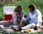 Soutendijk and LeMat discussing their ghost problems whilst picnicking.