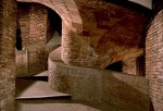 A Gaudí interior, with its characteristic curves, in a still from the film.