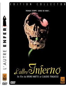 Half a skull with something blooming behind it adorns the Italian DVD cover.