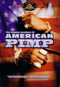 A pimp shows off his rings on the cover of the DVD.