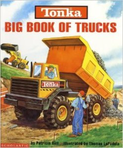 A large dump truck is front and center on the book's cover.