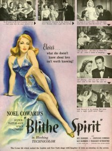 Kay Hammond reclines on the poster with a come-hither look surrounded by stills from the film on the poster.