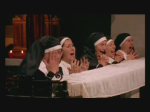 Nuns react in horror at seeing one of their order stripped and whipped in this still from the film.