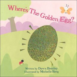 The golden egg sits in the middle of the book's cover.