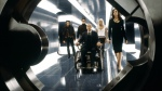 The good guys enter Professor Xavier's inner sanctum in a still from the film.