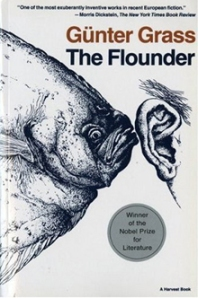 A flounder whispers into a man's ear on the book's cover.