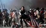 Mel Gibson charges through a battlefield in a scene from the film.