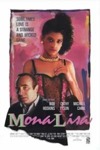 Cathy Tyson's image dominates one of Bob Hoskins in the lower left-hand corner on the movie poster.