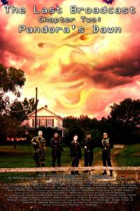 The principal cast stand in front of the house where most of the action takes place in this poster for the movie.
