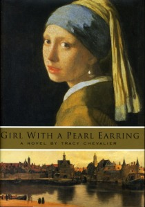 Vermeer's painting cits atop the book title and a skyline on the cover.