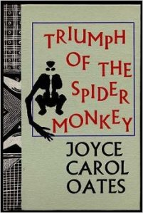 The title and author take up most of the cover of the hardback edition; a stylized doodle of a spider monkey can also be seen.