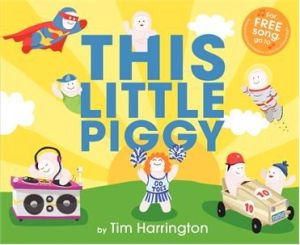 "A number of ""alternative"" piggies adorn the book's cover."