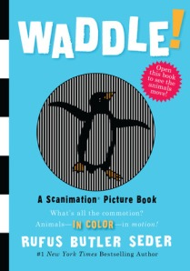 A scanimated penguin (turn the page and it looks animated) adorns the book's front cover.