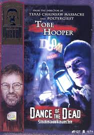 Robert Englund, as the Master of Ceremonies, beckons the audience into the show on the DVD cover.