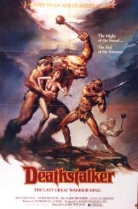 A generic fantasy battle scene decorates the movie poster.