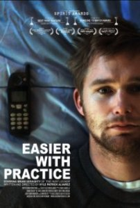 Brian Geraghty lies on a bed, a cordless phone next to his head, on the movie poster.
