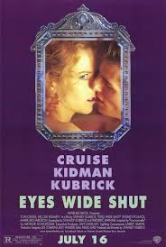 Cruise and Kidman in a kinda-sorta liplock on the movie poster.