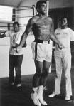 Muhammad Ali jumping rope in a still from the film.