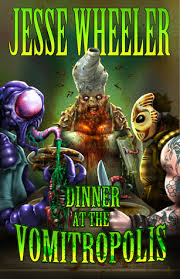 Three of the novel's more unsavory characters await their first course on the book's cover.