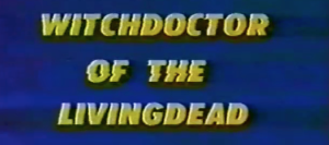 The title screen, blue background, yellow lettering, and distortion from it being a third-generation or so VHS dub.