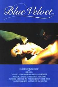 A naked Kyle McLachlan cradles Isabella Rosselini on the movie poster.