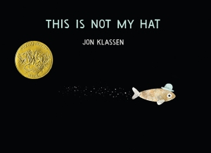 The thieving fish and the thieved hat adorn the book's cover.