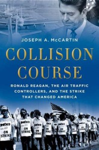 Ronald Reagan's profile looms over a photo of a strike in the early 1980s on the book's cover.