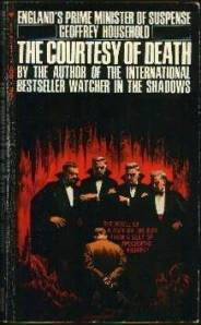 Four caped figures stand around a kneeling man on the mass market paperback edition cover.