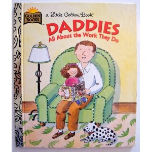 A daddy reads to his daughter on the book's cover.