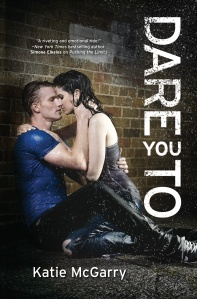 Two rain-covered young-and-beautifuls lock in an embrace on the cover of the book.
