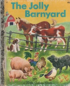 The jolly barnyard's inhabitants mill about on the book's cover.