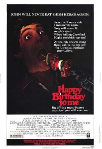 John gets a still-skewered shish kebab jammed into his mouth on the movie poster.