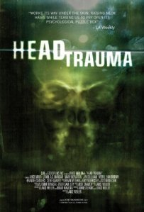 An X-ray of a head adorns the movie poster.