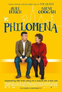 Steve Coogan and Judi Dench sit on an airport bench on the movie poster.