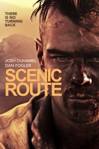 Josh Duhamel, bloodied and mohawked, wears a murderous expression on the movie poster.
