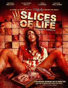 Kaylee Williams, splayed against a wall, covered in blood, adorns the movie poster.