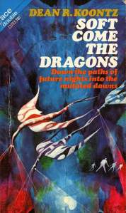 Psychedelically-colored dragons fly lazily on the book's cover.