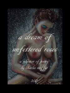 A painting by Moffat of a naked woman holding a flower adorns the book cover.