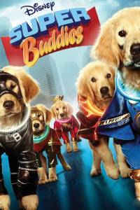 The buddies of the title pose in their superhero outfits on the movie's poster.