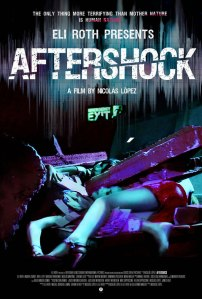 A woman's legs are buried under the rubble of a nightclub on the movie's poster.