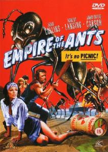 A giant ant towers over the principal cast on the movie's poster.
