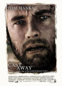 Tom Hanks, looking surprisingly unshaven, dominates the movie poster.