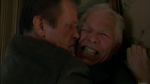 Nolte and Coburn in a violent moment in a still from the film.