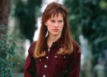 Hilary Swank with the world's biggest mullet in a still from the film.