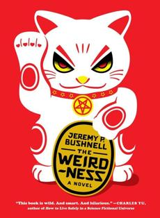 A neko--the waving Chinese cat dolls--wearing a pentagram adorns the book cover