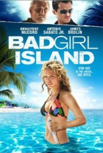 AnnaLynne McCord poses in a skinpy bikini on the DVD cover.