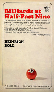 A billiard ball with a swastika on it adorns the cover of the book.