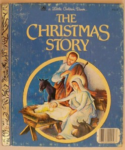 A classical depiction of Mary, Joseph, and Jesus adorns the book's cover.