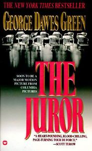 Twelve empty jurors' chairs adorn the cover of the mass market paperback edition.